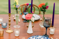 colorful-looking wedding tablescape