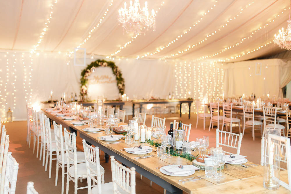 There was much light to make the venue more welcoming and neutral shades reminded of winter wonderland