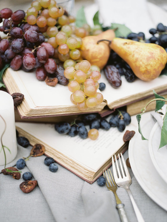 What can be more fall-like than grapes and berries used for creating a table runner