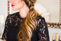 10 a Dutch braid ponytail with waves and a bump is a cool and feminine idea for a hairstyle