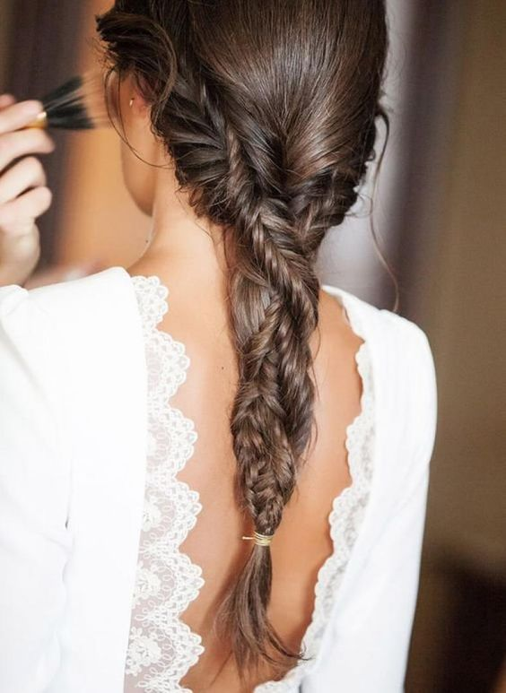 a braid made of two fishtail braids, which is a cool idea for any boho girl