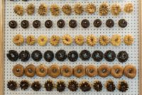 11 A wedding cake was substituted with a trendy donut wall to please the guests