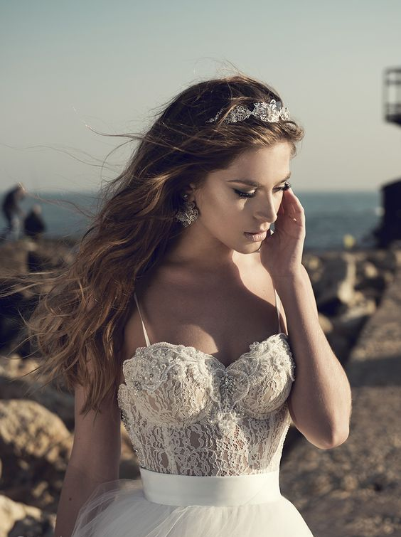if your wedding dress has a bustier, there's no need for a bra