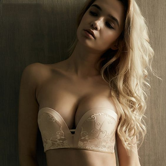 a sexy nude invisible bra is great for a strapless or a low cut wedding dress
