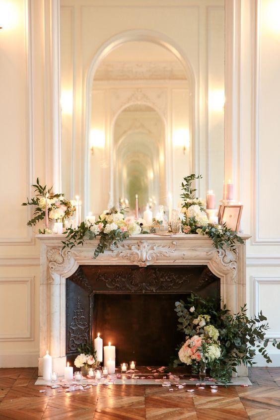 Greenery On Fireplace Mantel
