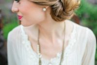 15 a low twisted bun is a chic and classic idea that never goes out of style