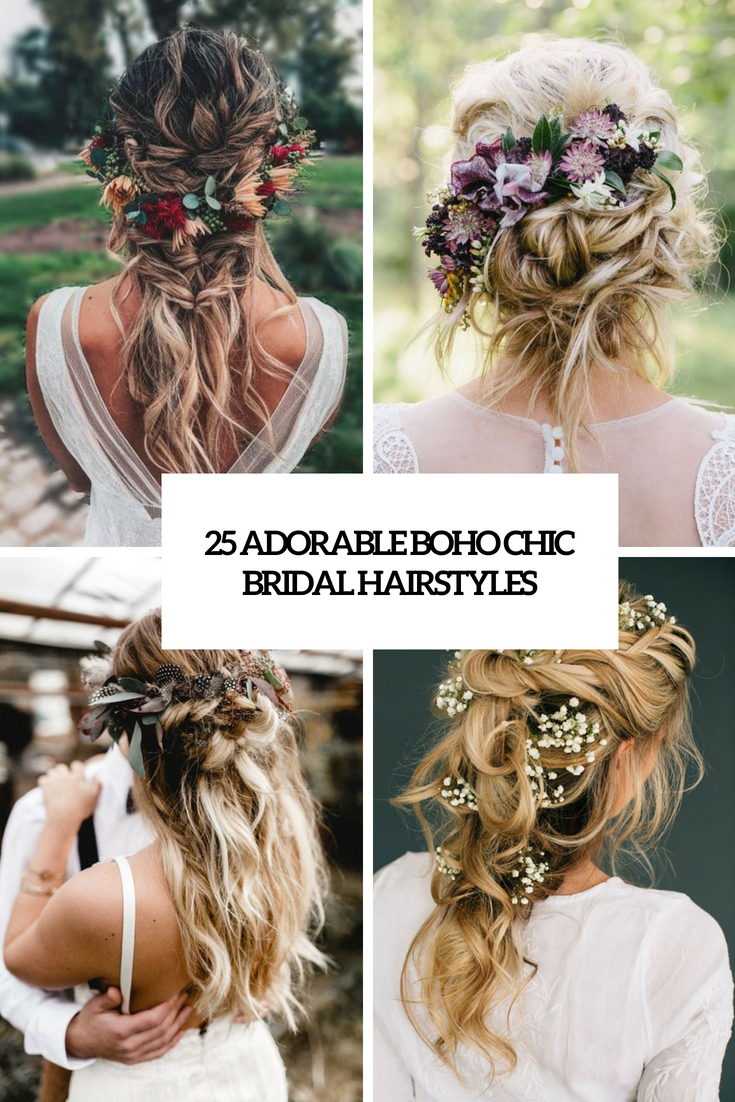 25 Adorable Boho Chic Bridal Hairstyles
