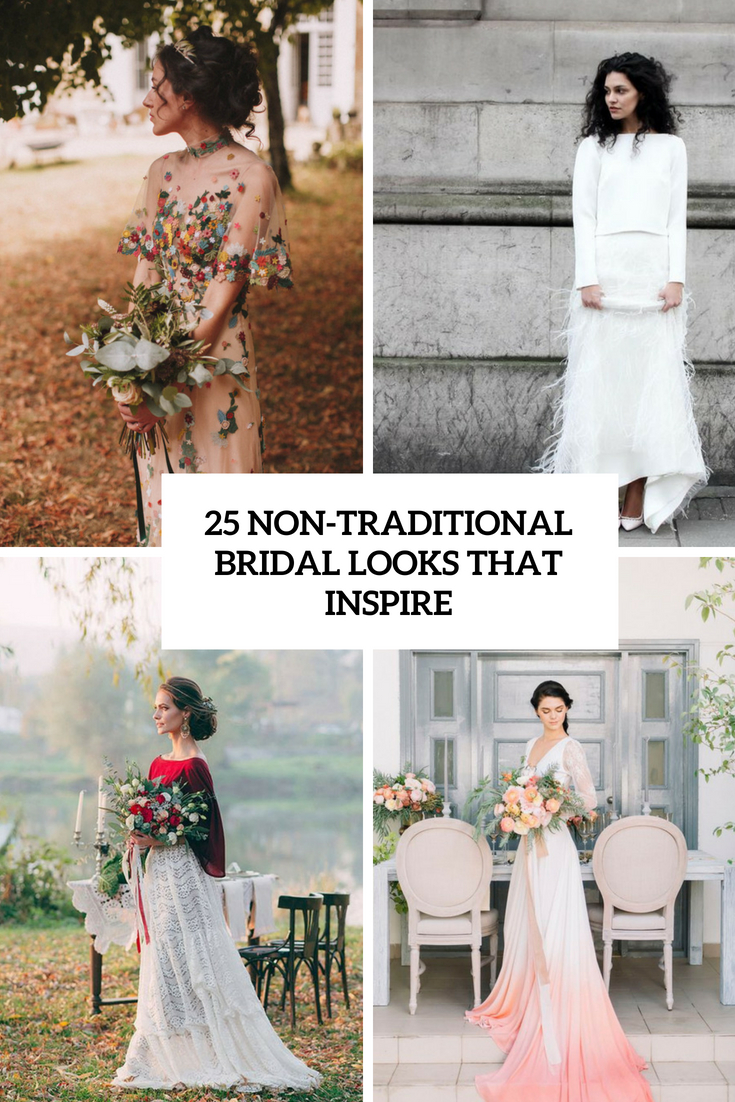 8 Non-Traditional Bridal Looks That Inspire - Weddingomania
