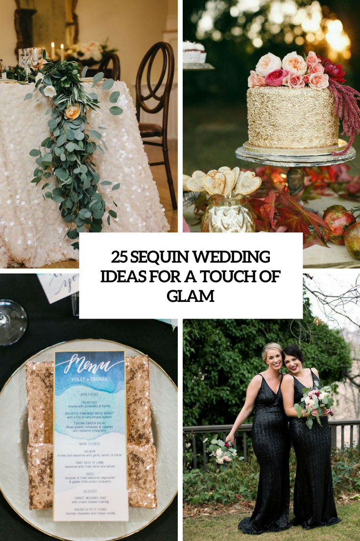 sequin wedding ideas for a touch of glam cover