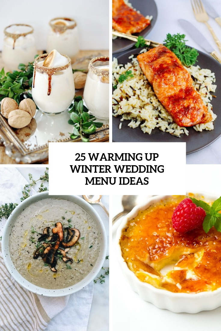 warming up winter wedding menu ideas cover