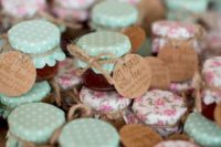 give your guests little jam jars to spread the love