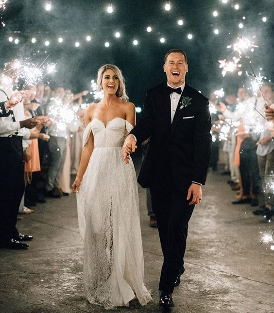 sparklers are a nice idea for a winter holiday wedding or to add a touch of sparkle to your wedding exit