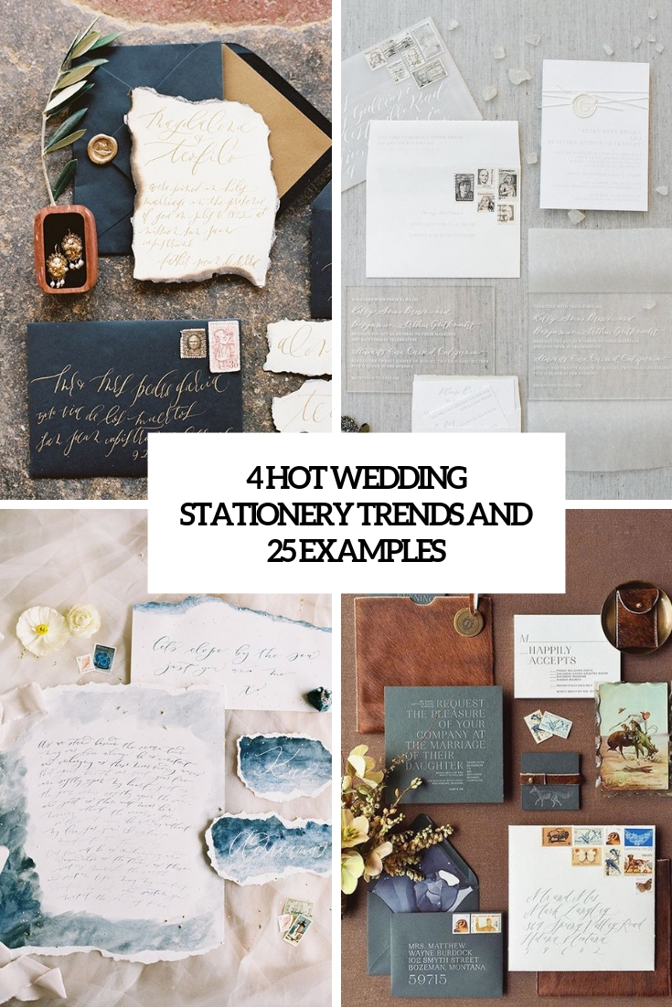 4 hot wedding stationery trends and 25 examples cover