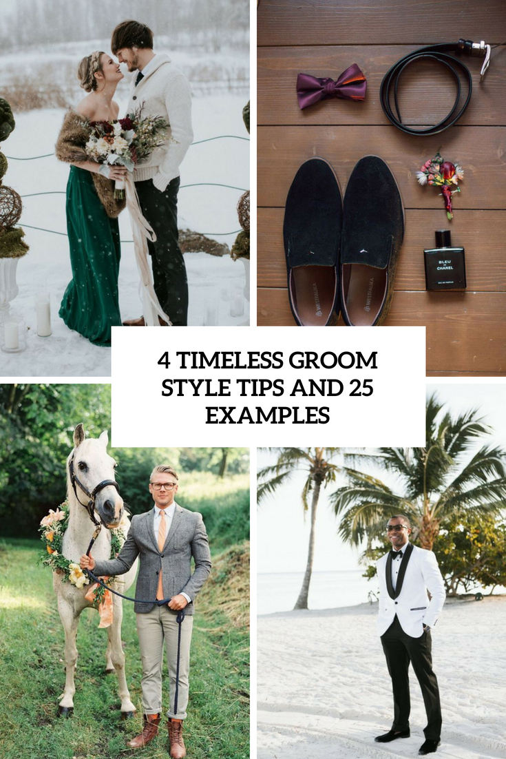 4 timeless groom style tips and 25 examples cover