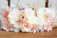 DIY faux flower basket for flower girls