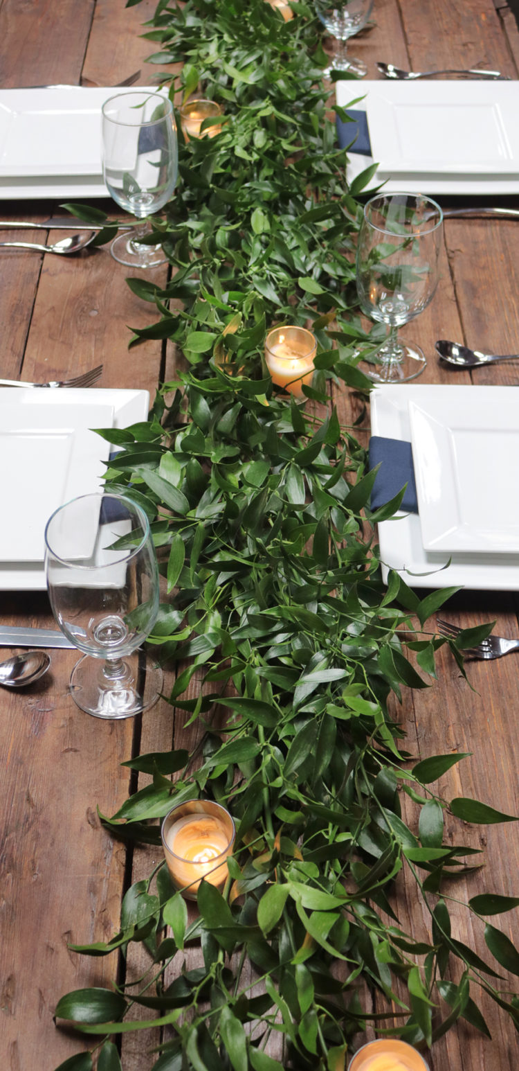 7 Diy Floral And Greenery Wedding Table Runners Weddingomania