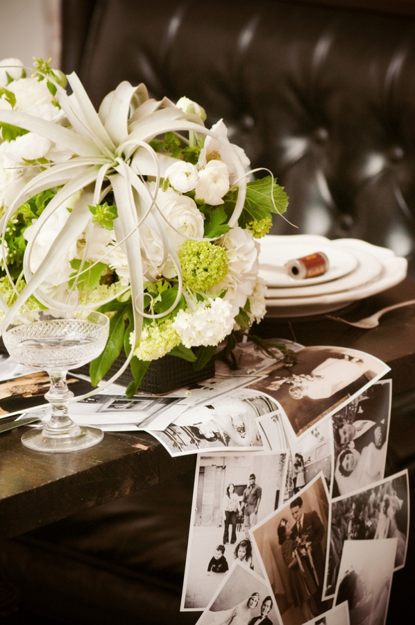 DIY photo wedding table runner