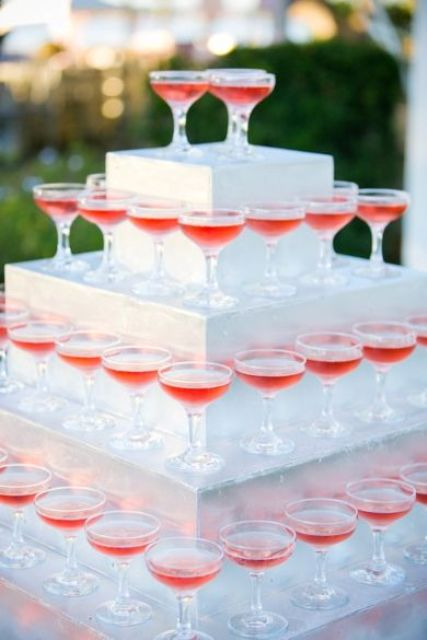if you fail building your own tower, think of getting such a stand for serving the glasses