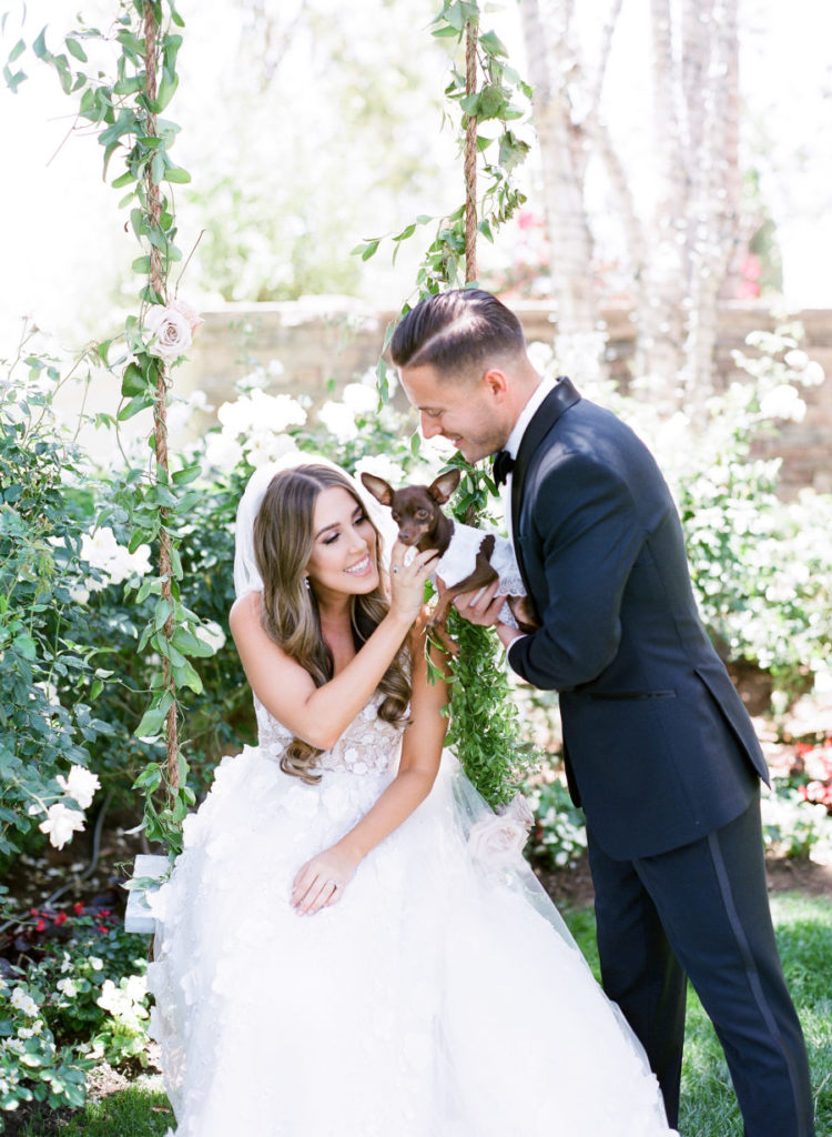 This beautiful couple wanted a refined garden wedding and wanted to include their dog into it