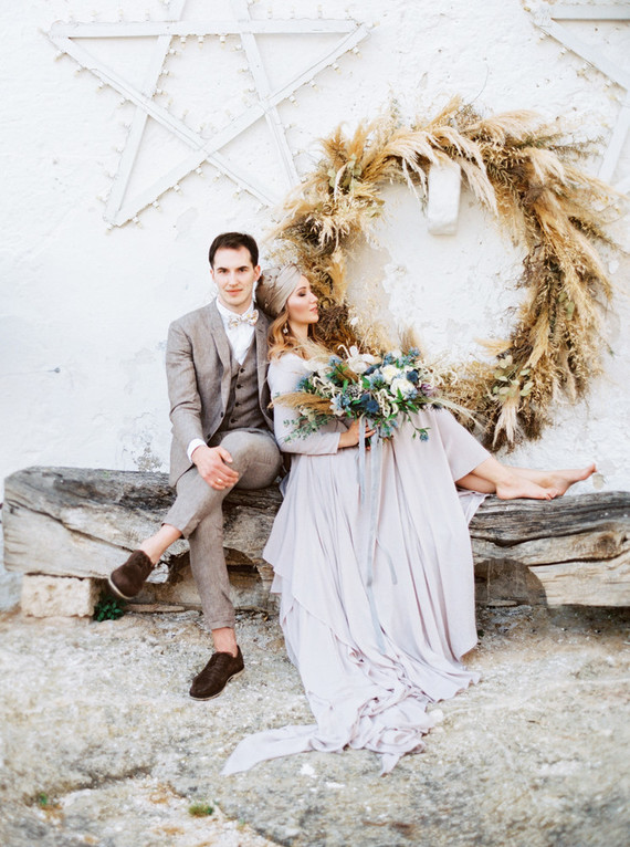 Romantic Moon And Stars Fall Wedding Shoot