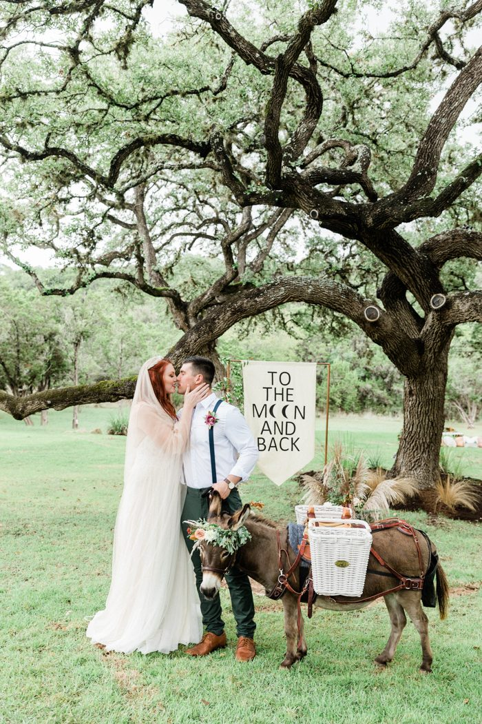 This boho chic wedding shoot was done with vintage touches and various edgy details