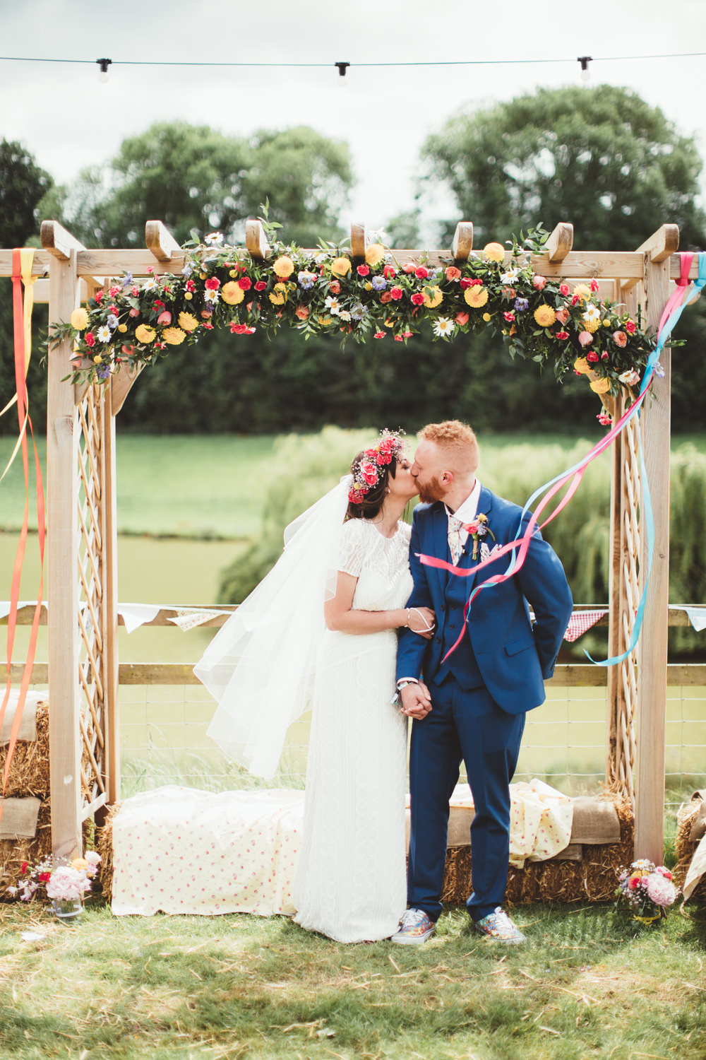 This cheerful summer festival wedding was filled with bright blooms and lots of fun touches