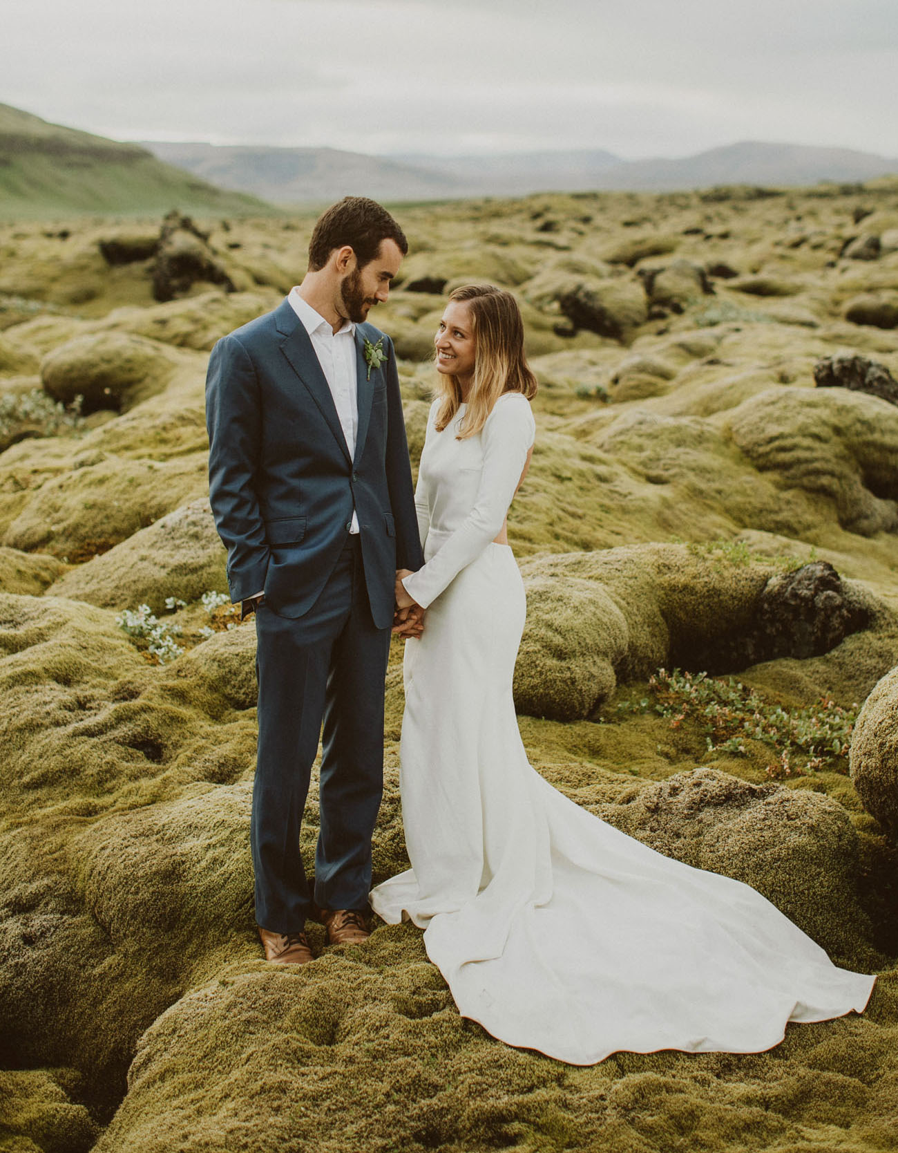 This couple made a cool trip across Iceland, which culminated in an intimate elopement