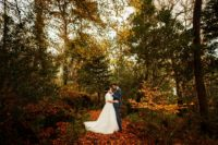 01 This rustic vintage wedding took place in Ireland and was filled with fall charm and details