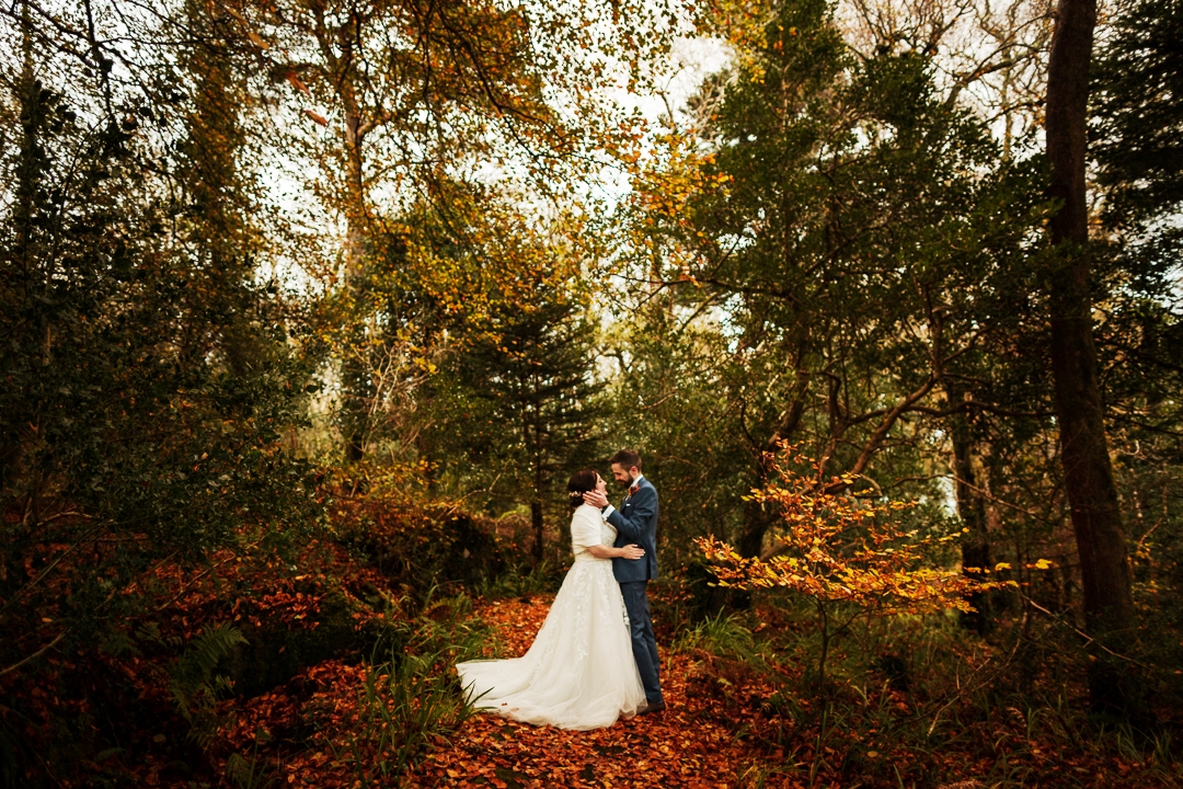 This rustic vintage wedding took place in Ireland and was filled with fall charm and details