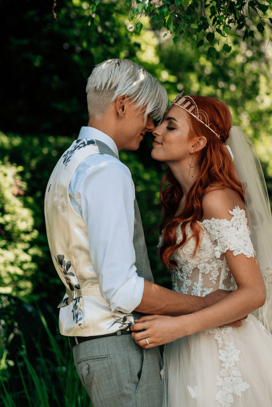 Unique Spiritual Woodland Wedding With Crystals
