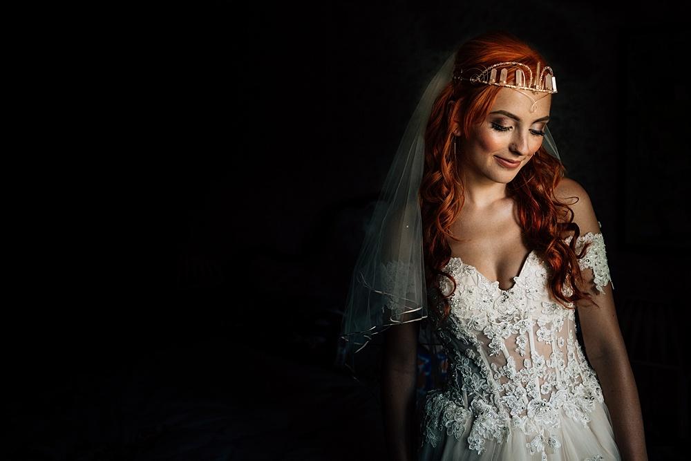 bride in a nice off the shoulder dress