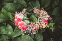gorgeous floral crown for a bride
