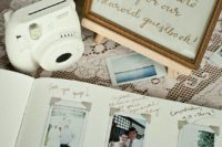 03 an Instax camera will make your wedding guest book cooler, let your guests take pics of them for you