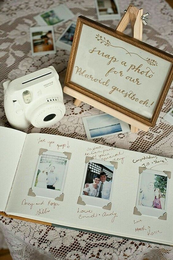 an Instax camera will make your wedding guest book cooler, let your guests take pics of them for you