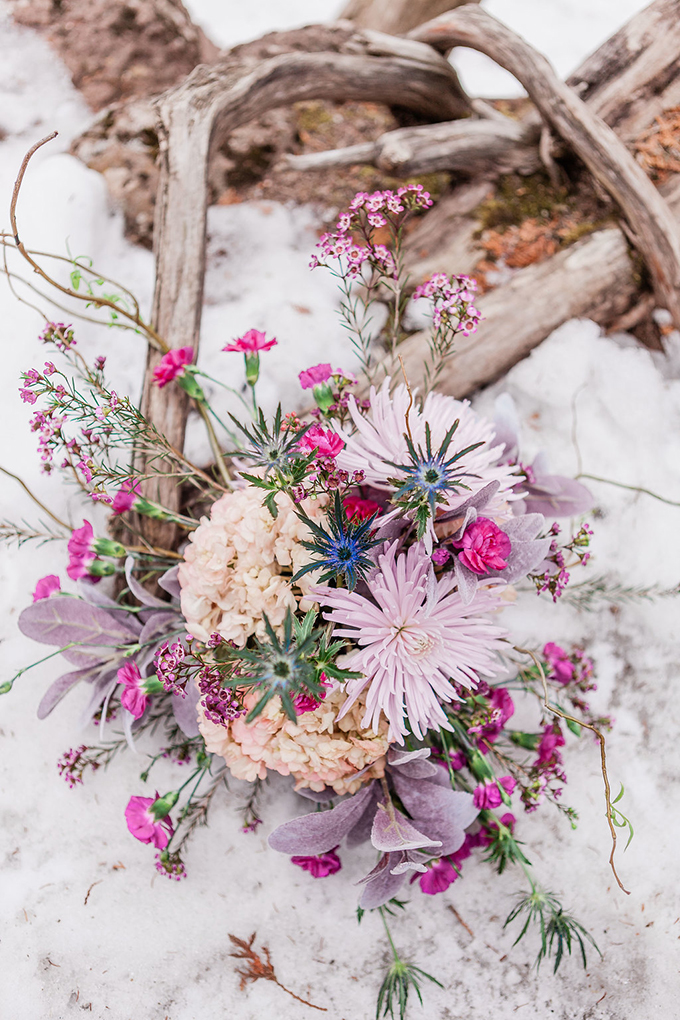 The gorgeous bridal bouquet was a bold feature in all shades of pinks, blush and mauve tones plus thistles