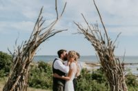 05 a driftwood and branches wedding altar for a wild and woodland feel can be a nice idea for many locations