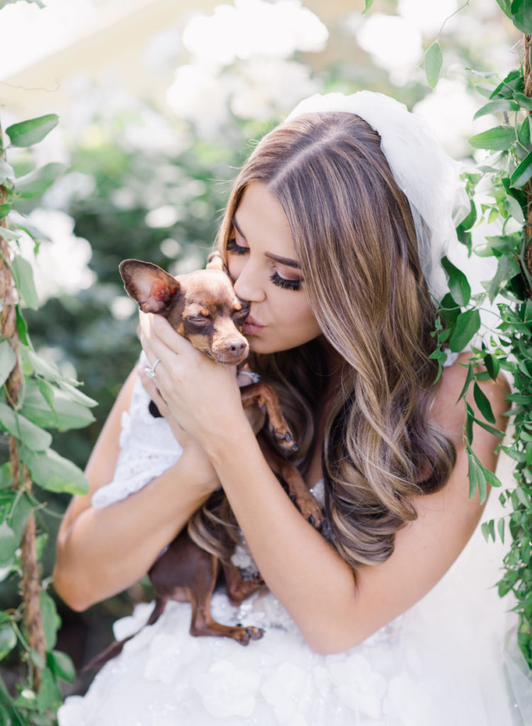 The couple's dog, Stella, was incorporated into the wedding
