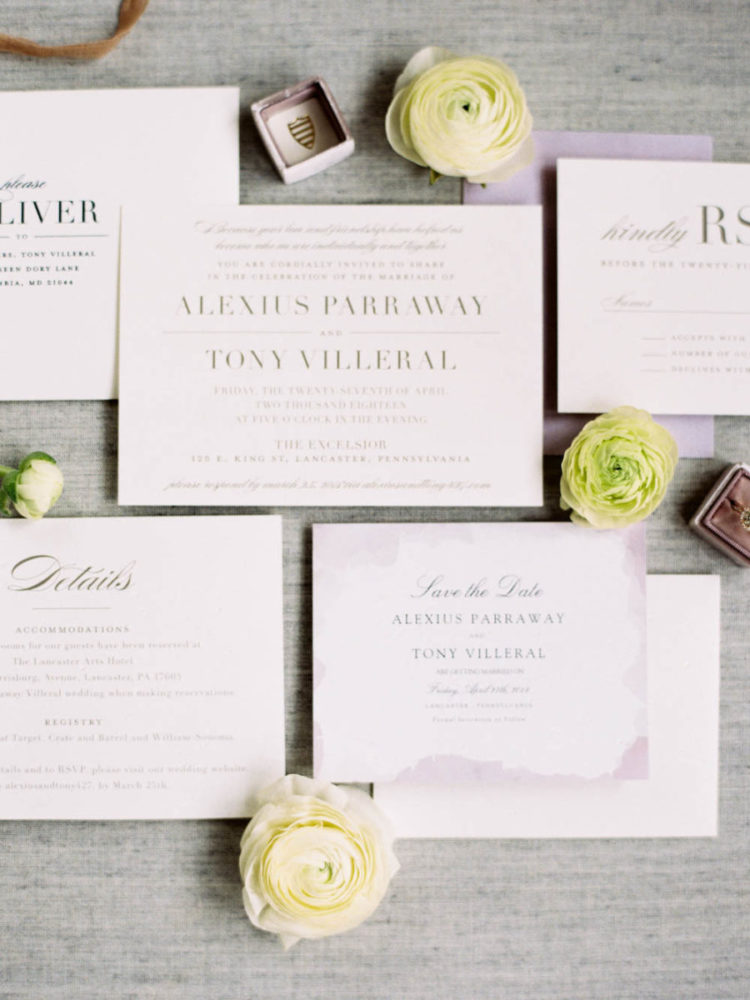 The wedding stationery was neutral and modern just like the wedding itself