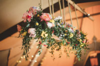 09 The reception space was decorated with bright and lush florals
