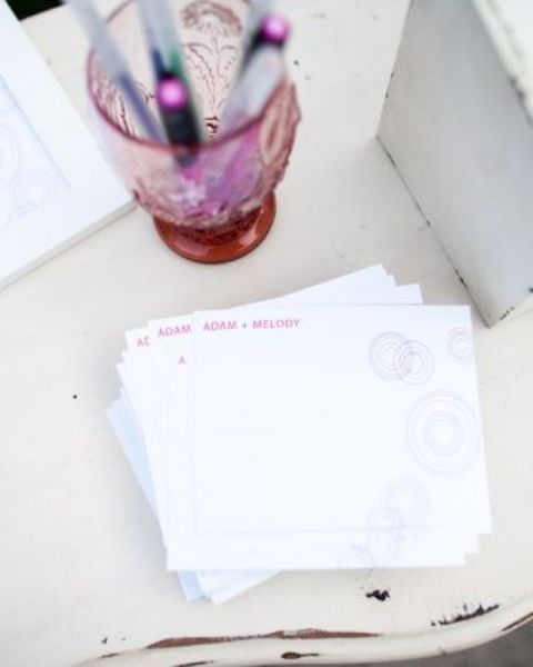 offer some cards to your guests and they will write wishes and various date idea for you two