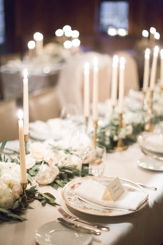 provide many candles for decorating your reception space, they will create an inviting and welcoming ambience there