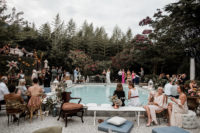 12 The wedding lounge was by the pool, and was done with comfy refined furniture