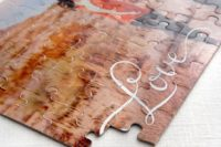 12 a puzzle made of your couple's photo as a guest book is a great idea to rock at your wedding