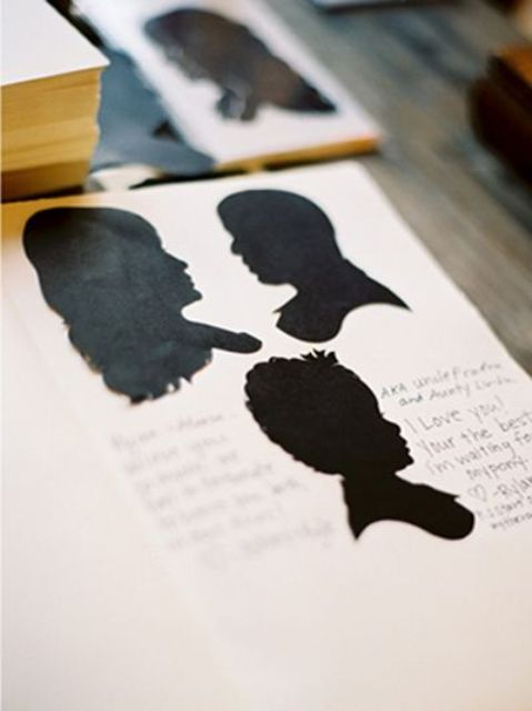 a silhouette guest book is a stylish and modern idea to go for, it's a chic piece to rock at many weddings