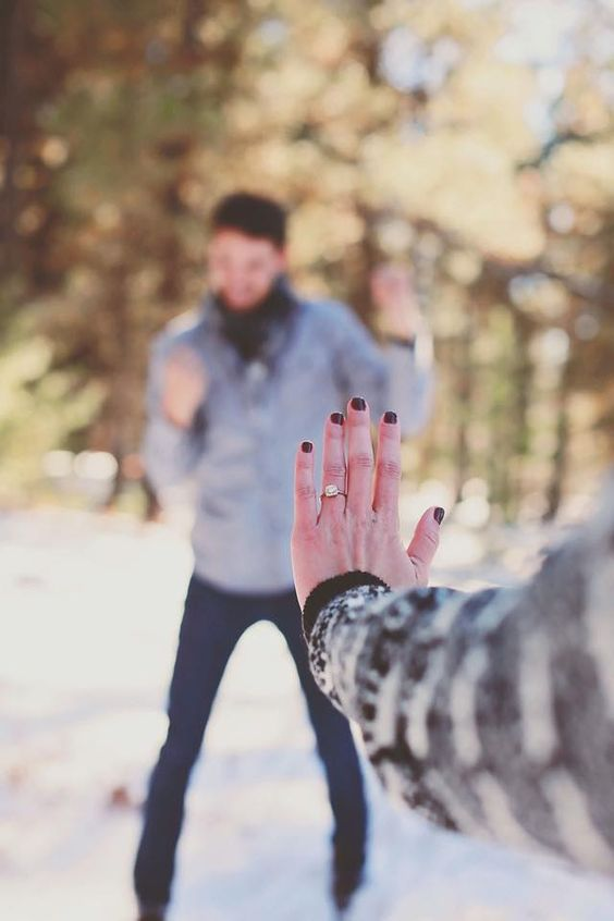 go for a walk and show off your ring and your groom to be at the same time