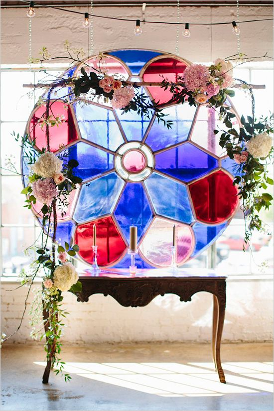a colorful glass mosaic decorated with blooms is a stunning eye-catchy idea for adding a unique touch to your decor