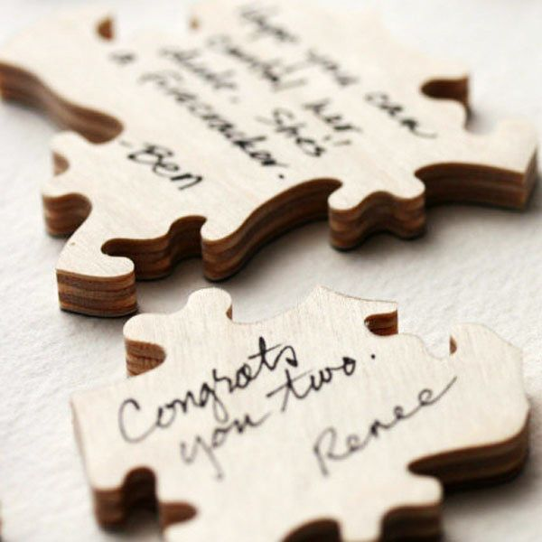 you and your partner will have so much fun putting together this puzzle filled with your guest's messages
