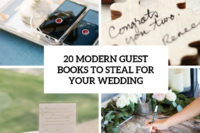 20 modern guest books to steal for your wedding cover