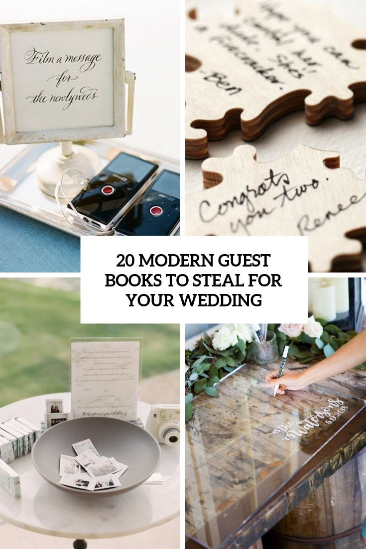 modern guest books to steal for your wedding cover