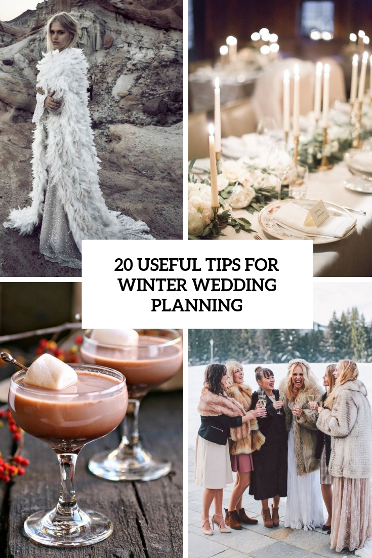 useful tips for winter wedding planning cover